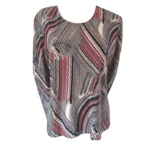 Chagall Wavy Line Sueded Top XL